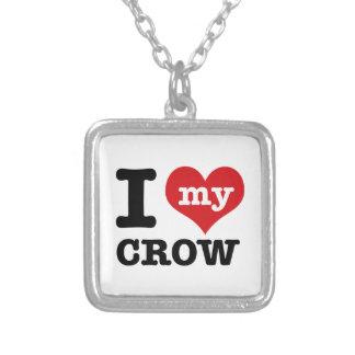 I Love my crow Pendants