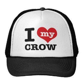 I Love my crow Trucker Hats