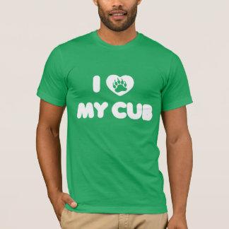 I love My Cub Heart Paw T-Shirt