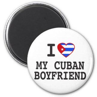 I love My Cuban Boyfriend with Cuban Flag Heart Magnet