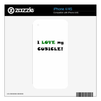 I Love my Cubicle Skins For iPhone 4