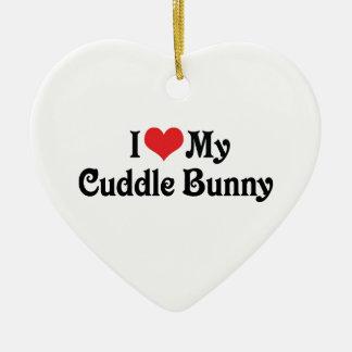 I Love My Cuddle Bunny Christmas Ornaments