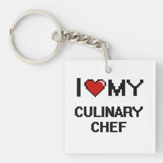 I love my Culinary Chef Single-Sided Square Acrylic Keychain