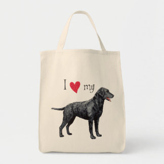 I Love my Curly-Coated Retriever Bag