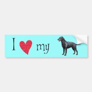 I Love my Curly-Coated Retriever Bumper Sticker