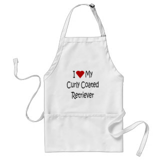 I Love My Curly Coated Retriever Dog Lover Gifts Adult Apron