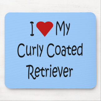 I Love My Curly Coated Retriever Dog Lover Gifts Mouse Pad