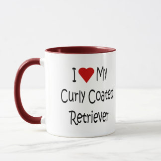 I Love My Curly Coated Retriever Dog Lover Gifts Mug