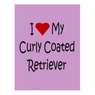 I Love My Curly Coated Retriever Dog Lover Gifts Postcard