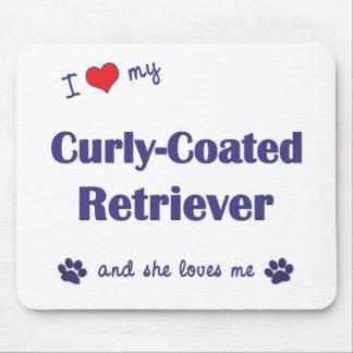 I Love My Curly-Coated Retriever (Female Dog) Mouse Pad