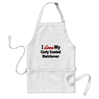 I Love My Curly Coated Retriever Gifts Adult Apron