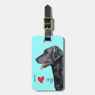 I Love my Curly-Coated Retriever Luggage Tag