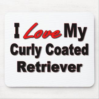 I Love My Curly Coated Retriever Mousepad