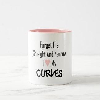 I Love My Curves-Mug Two-Tone Coffee Mug