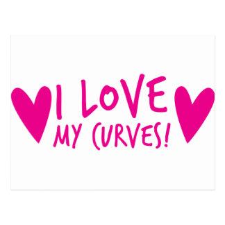 I love my CURVES Postcard