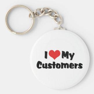 I Love My Customers Keychain