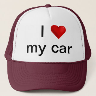 I love my (customizable hat) trucker hat