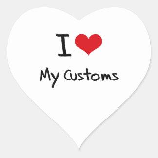 I love My Customs Heart Sticker