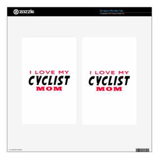 I Love My Cyclist Mom Decal For Kindle Fire