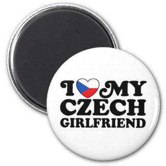 I Love My Czech Girlfriend Fridge Magnet
