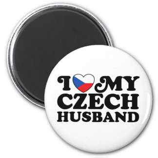 I Love My Czech Husband 2 Inch Round Magnet
