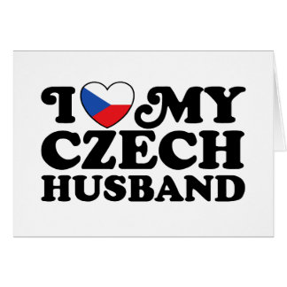 I Love My Czech Husband Card
