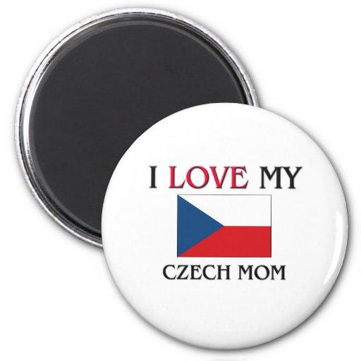 I Love My Czech Mom 2 Inch Round Magnet