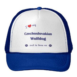 I Love My Czechoslovakian Wolfdog (Male Dog) Hats