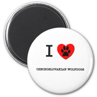I LOVE MY CZECHOSLOVAKIAN WOLFDOGS 2 INCH ROUND MAGNET