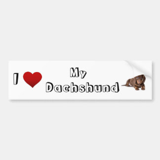 I love my Dachshund (2) Bumper Stickers