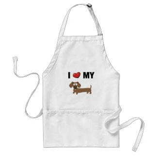 I love my dachshund adult apron