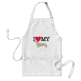 I Love My Dachshund ! Adult Apron