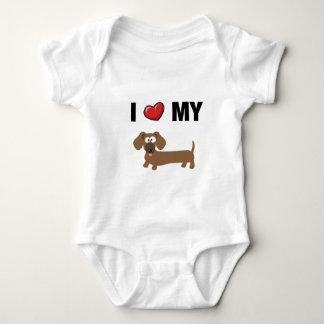 I love my dachshund baby bodysuit