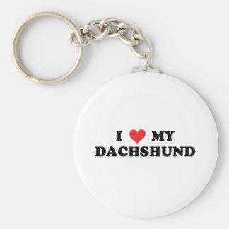 I Love My Dachshund Basic Round Button Keychain