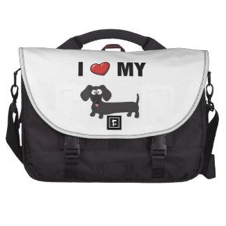 I love my dachshund black commuter bag