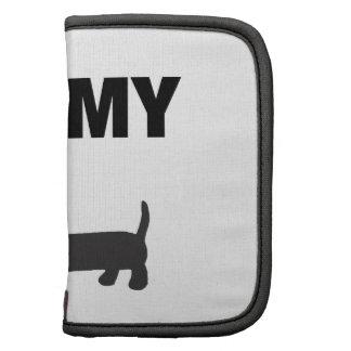 I love my dachshund (black) folio planners