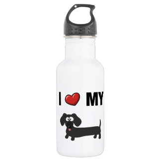I love my dachshund (black) stainless steel water bottle