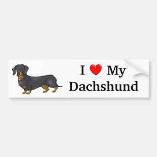 I Love My Dachshund Bumper Sticker Car Bumper Sticker