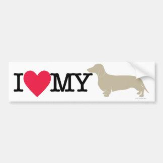 I Love My Dachshund ! Bumper Stickers