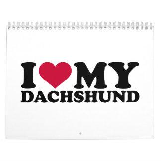 I love my Dachshund Calendar