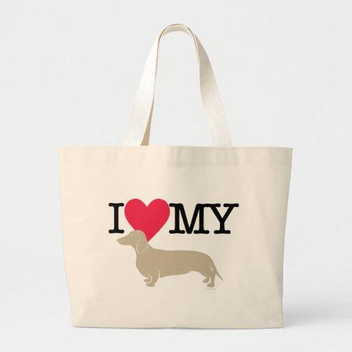 I Love My Dachshund ! Canvas Bag