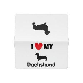 """I Love My Dachshund"" Checkbook Cover"