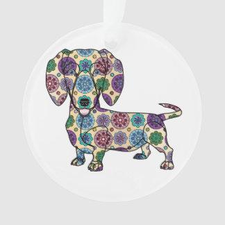 I Love My Dachshund - Circle Ornament