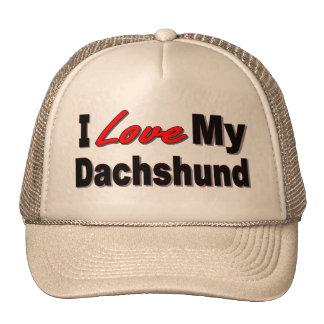 I Love My Dachshund Dog Gifts & Apparel Trucker Hat