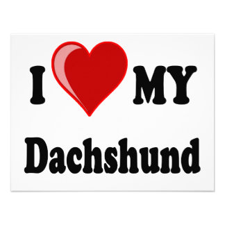 I Love My Dachshund Dog Gifts & Apparel Invitations