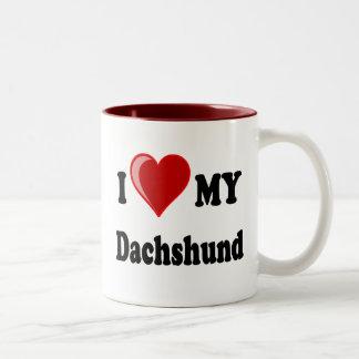 I Love My Dachshund Dog Gifts Apparel Mugs