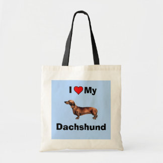 I Love My Dachshund Dog - Hand Bag