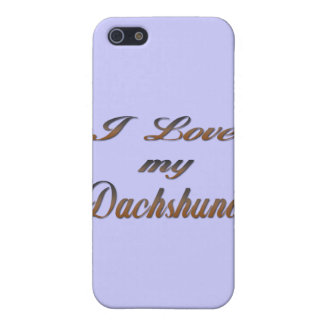 I Love my Dachshund fade iPhone SE/5/5s Cover