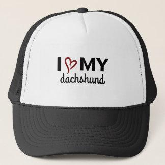 I Love My Dachshund Hat (black)