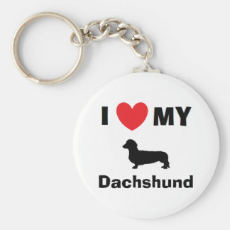 """I Love My Dachshund"" Key Chain"